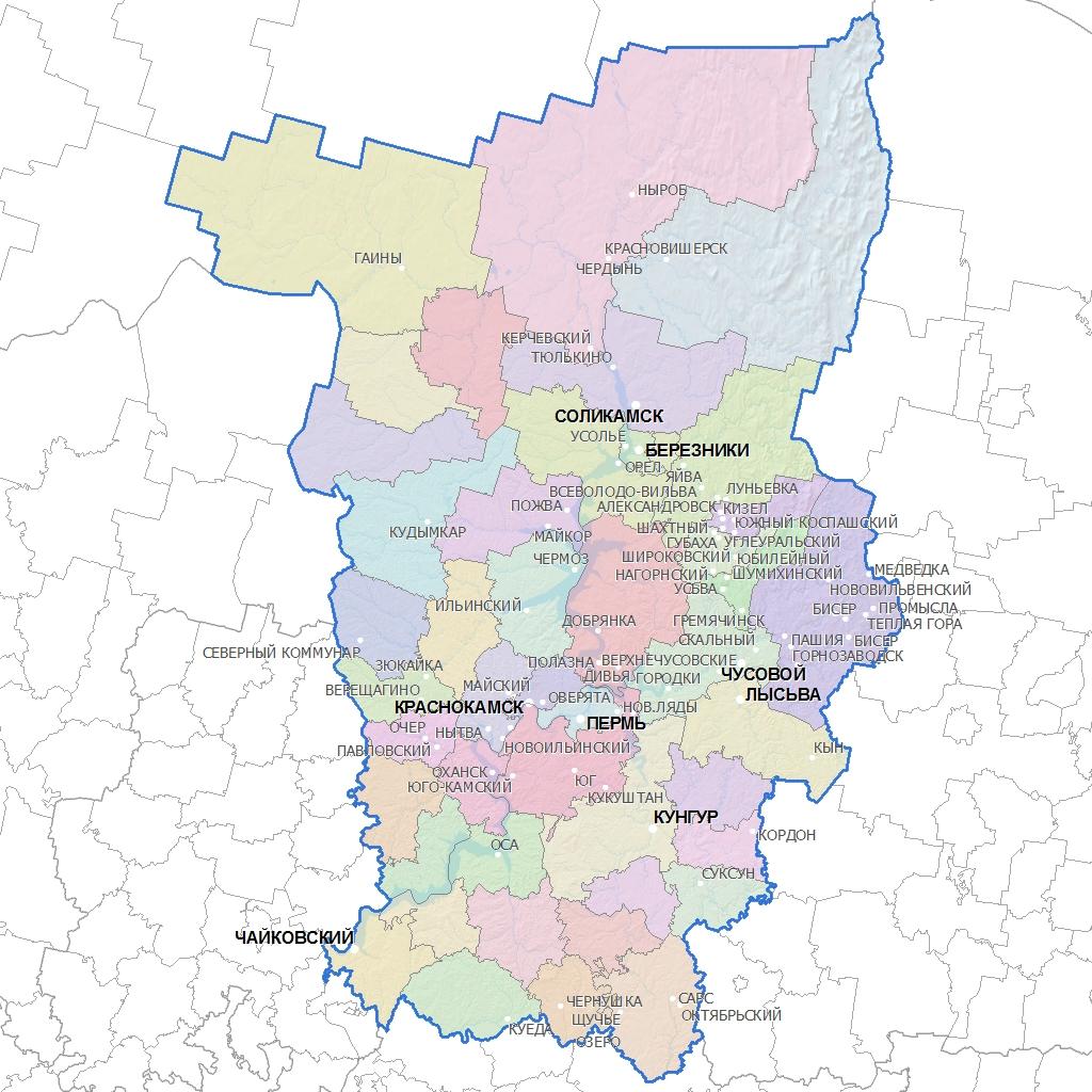 Карта Пермского Края С Населенными Пунктами Скачать - фото 6