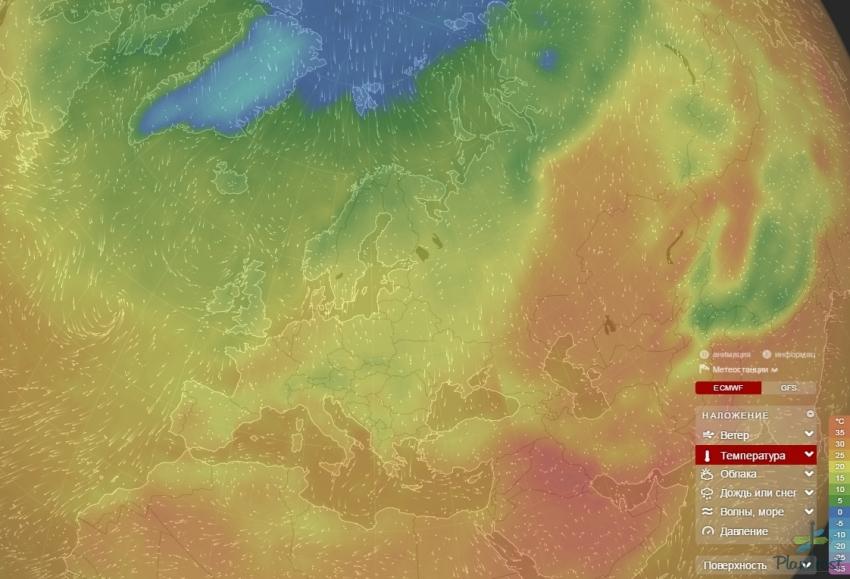 Карты погоды в реальном времени