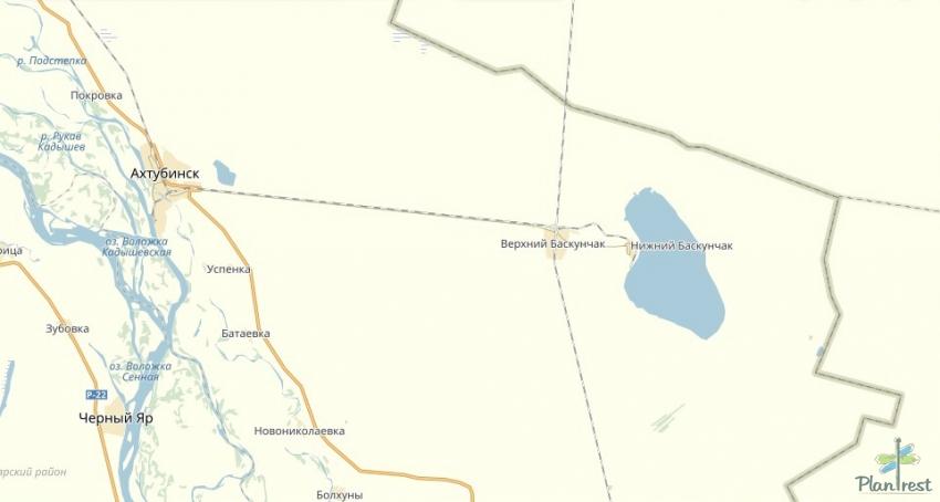 Баскунчак Озеро на Карте России