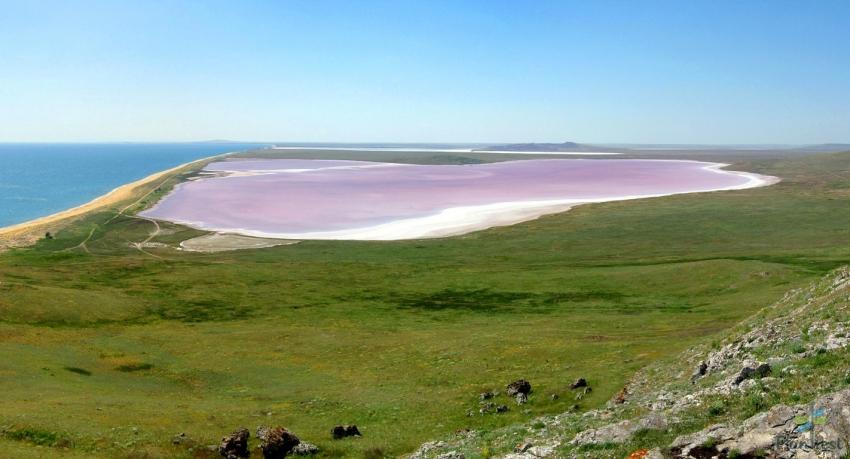 Соленые озера Крыма. Кояшское озеро.