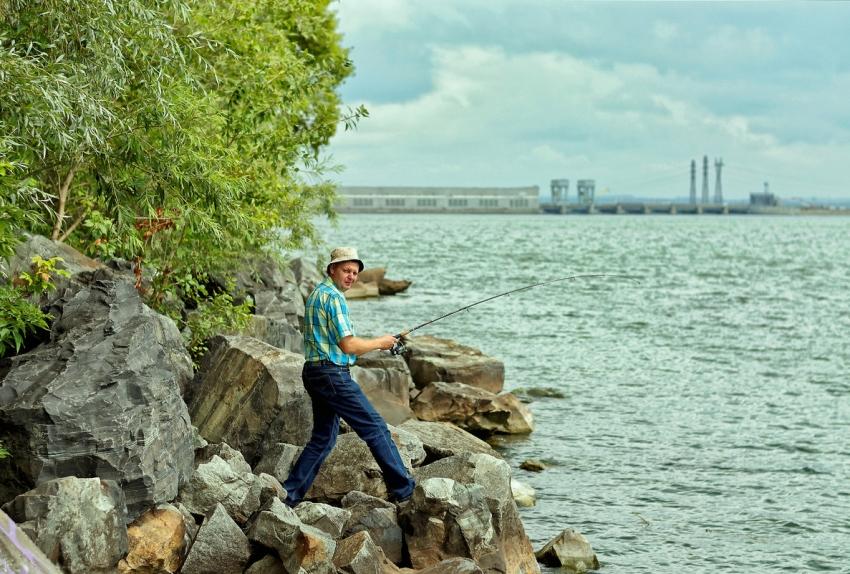 Рыбалка на Обском море